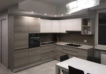 Progetto rifacimento cucina appartamento a Como