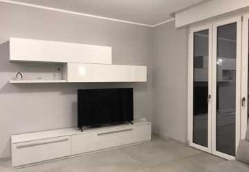 Progetto rifacimento soggiorno a Monza